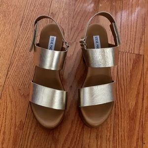 6a033b68f5be Steve Madden Shoes - Steve Madden gold marena platform sandals